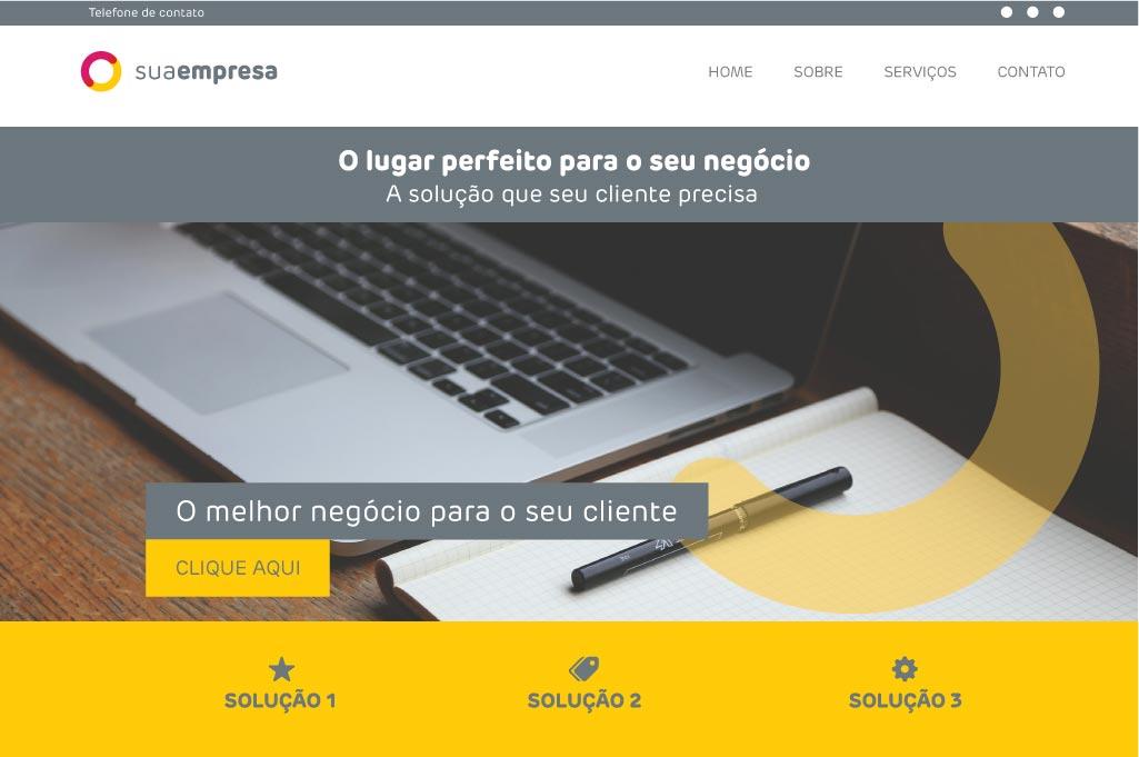 Modelo de Site 1 - Na Web