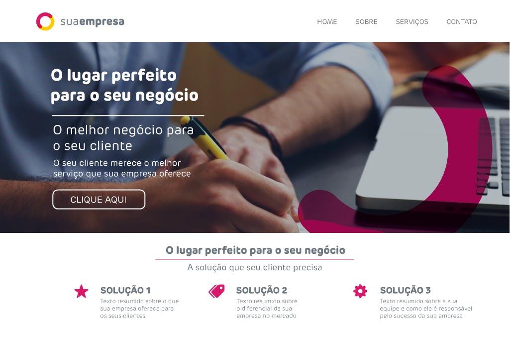 Modelo de Site 3 - Na Web